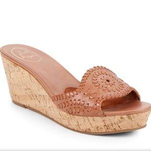 Jack Rogers Barcelona Capri leather sandals cork